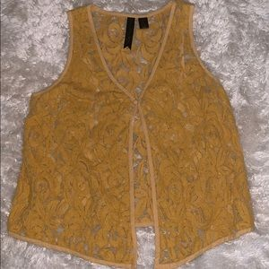 Petticoat Alley yellow one button vest